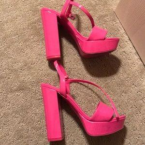 Aldo hot pink pumps